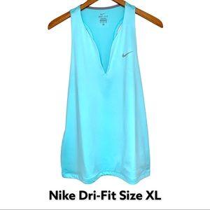 Nike Dri-Fit Tank Top Racerback V Neck Size XL